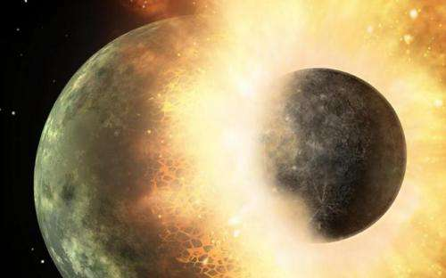Planet Mercury a result of early hit-and-run collisions