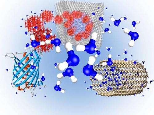 Properties of water at nanoscale will help to design innovative technologies