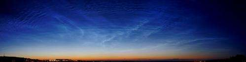 Rare Noctilucent Clouds Seen Over Armagh