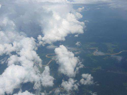 Amazonian drought conditions add carbon dioxide to the atmosphere