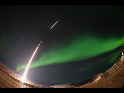 Rocket launches into an aurora to study auroral swirls