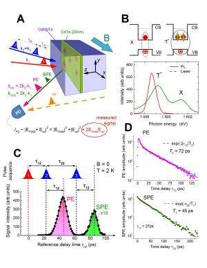 Scheme of photon echo experiment and optical properties of investigated structure