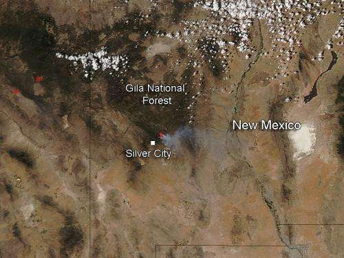 Signal Fire in New Mexico