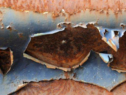 Skin with high rust protection factor