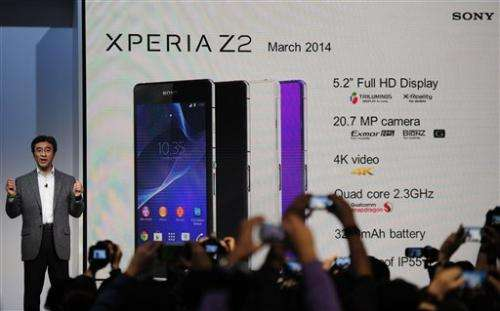 Sony showcases phone with ultra-HD video recording