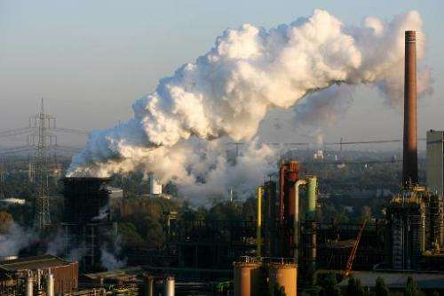 Steam rises from the Prosper coking plant on October 11, 2010 in Bottrop, Germany