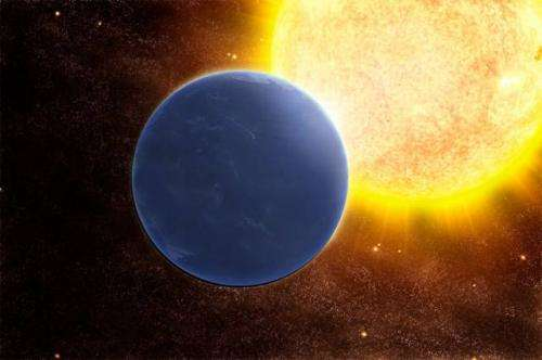 Study finds an exoplanet, tilted on its side, could still be habitable if covered in ocean