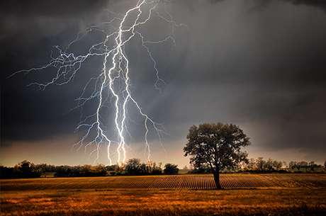 Sun's rotating 'magnet' pulls lightning towards UK