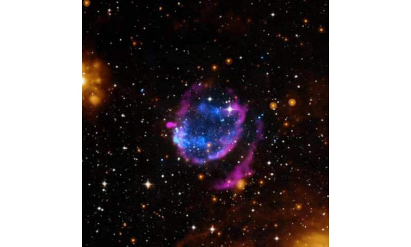 Supernova cleans up its surroundings