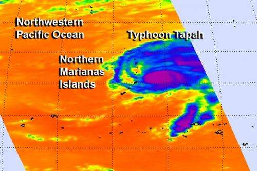 Tapah through infrared satellite eyes: Now a typhoon