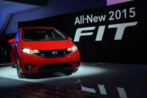 The 2015 Honda Fit is introduced during a press preview at the North American International Auto Show January 13, 2014 in Detroi