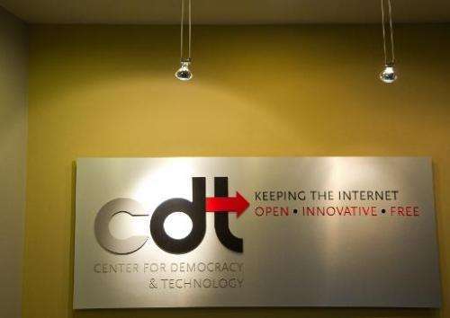 The Center for Democracy and Technology headquarters in Washington, DC, on July 16, 2012