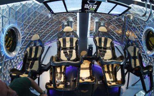 The interior of SpaceX's new seven-seat Dragon V2 spacecraft, the company's next generation version of the Dragon ship designed