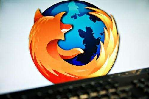 The Mozilla Firefox logo on a computer screen in London on July 31, 2009