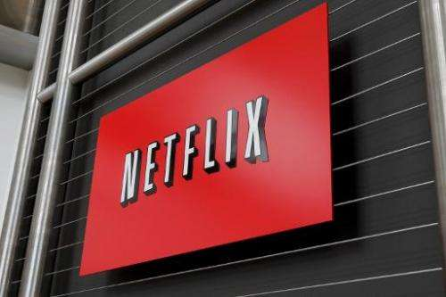 The Netflix company logo is seen at headquarters in Los Gatos, CA on, April 13, 2011