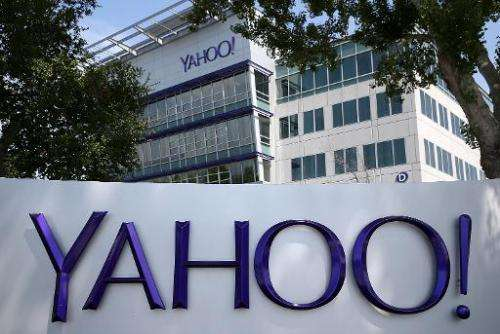 The Yahoo! headquarters on May 23, 2014 in Sunnyvale, California