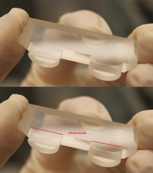 Thin, Strong Bond for Vacuum Seal