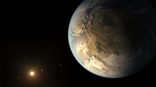 This artist's concept released April 17, 2014 by NASA/JPL-CALTECH depicts Kepler-186f, the first validated Earth-size planet to