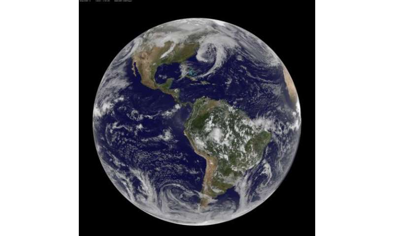Three low pressure areas around the U.S.