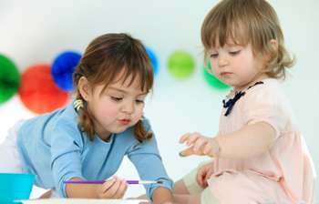 Toddlers are creative at just two years old