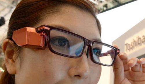 Toshiba Glass shown at Ceatec in Japan
