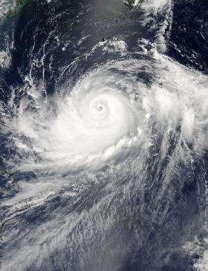 Typhoon Halong opens its eye again for NASA