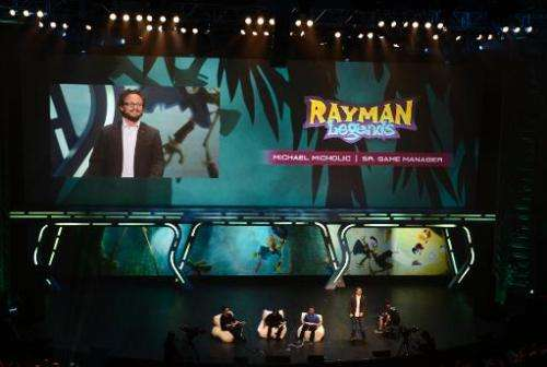 Ubisoft presents Rayman Legends during the Ubisoft media briefing at the E3 2012 in Los Angeles, California, on June 4, 2012