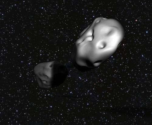 Undergraduates discover rare eclipsing double asteroid