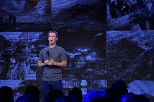 US chairman and chief executive of Facebook Mark Zuckerberg announces the Internet.org Innovation Challenge in India in New Delh