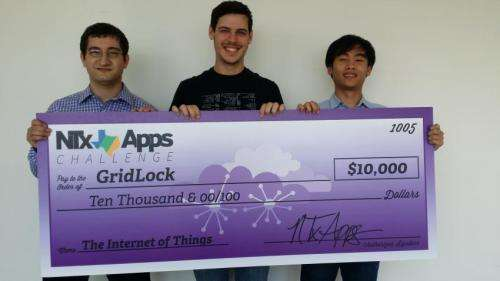 UT Arlington computer science engineering students win challenge for real-time traffic app