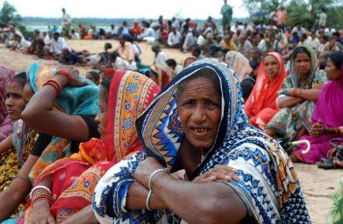 Villagers protest against use of their farmland for industrial development in Jagatsinghpur district, about 140 kilometers east