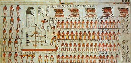 Wall painting from the tomb of Djehutihotep.