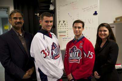 Where hockey and engineering collide: NJIT Highlanders join a pioneering concussion study