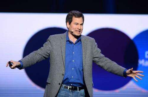 Yahoo! Vice President of Editorial David Pogue speaks during a keynote address by Yahoo! President and CEO Marissa Mayer at the