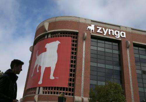 Zynga headquarters, pictured in San Francisco, California, on July 25, 2013