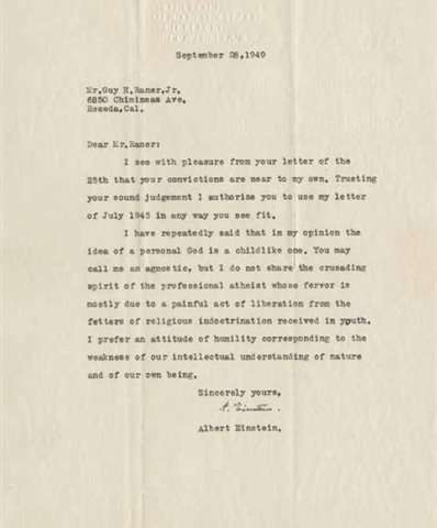 Image result for einstein's letter on god in german