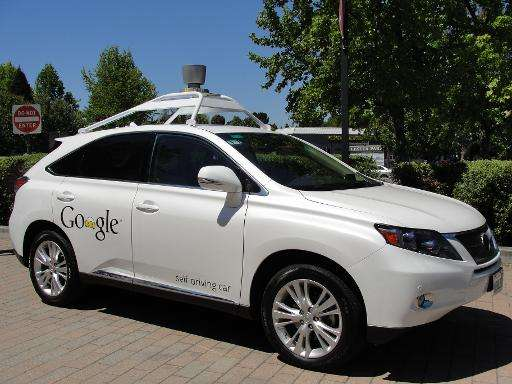 A Google self-driving car is seen in Mountain View, California, on May 13, 2014