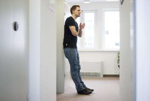 Austrian activist Max Schrems speaks during an interview with AFP in Vienna, Austria on April 7, 2015