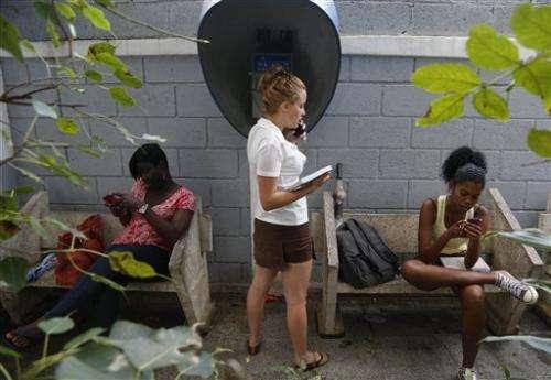 Cuba allows rare free public Wi-Fi at Havana cultural center