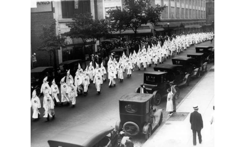 Digital map shows spread of KKK across United States like 'a contagion'