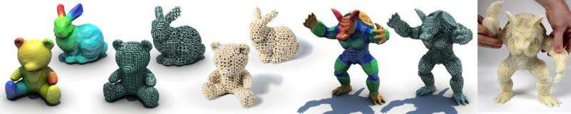 Disney Research produces 3-D-printed objects with variable elasticity using single material