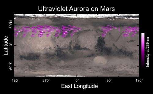 Dust cloud, aurora detected around Mars