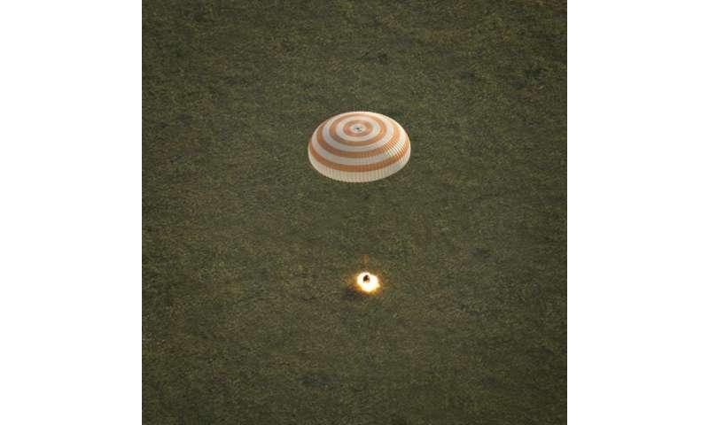 ESA astronaut Samantha Cristoforetti back on Earth
