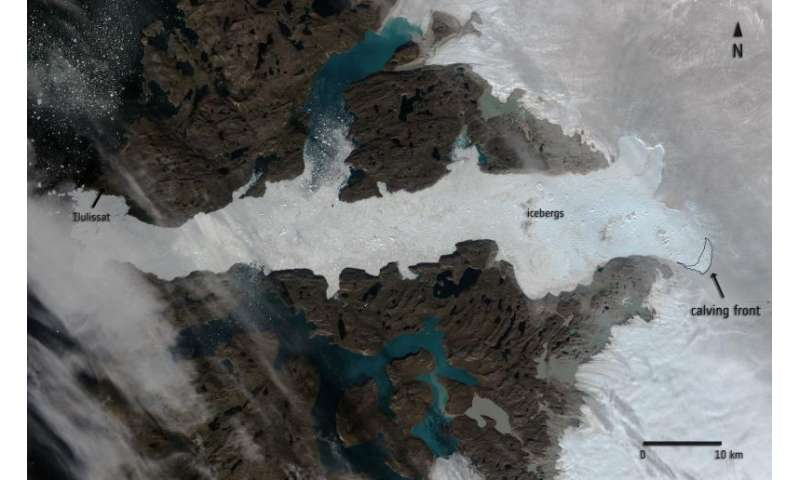 Fastest moving glacier in the world sheds 12.5 sq km chunk of ice