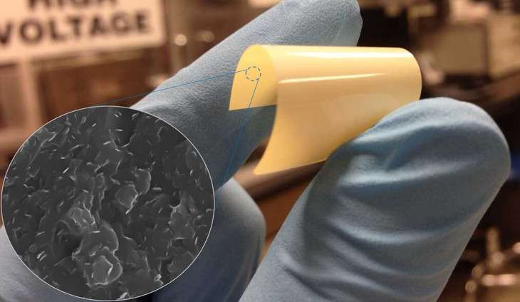 Flexible dielectric polymer can stand the heat