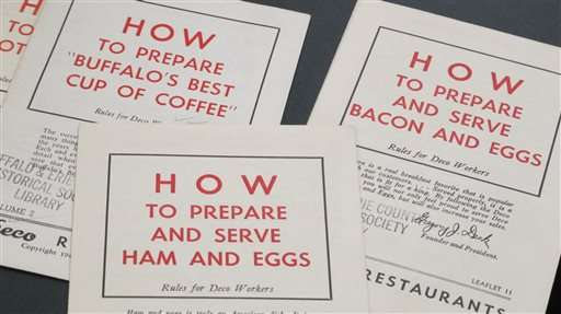 From beef tongue to beef on weck, menus tell culinary story