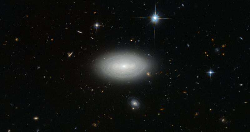 Hubble Views a Lonely Galaxy