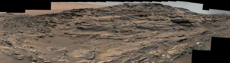 Mars Panorama from Curiosity Shows Petrified Sand Dunes