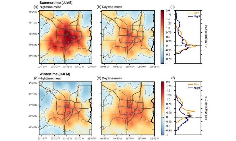 New urban heat island study shows surprising variation in air temperatures across Twin Cities