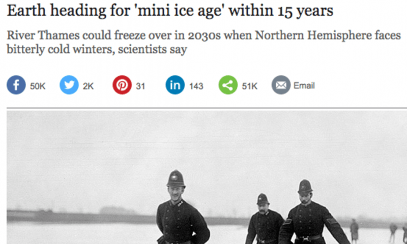 No, we aren't heading into a 'mini iceage'
